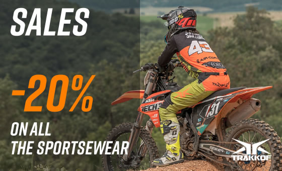 Sales -20% on all the sportswear