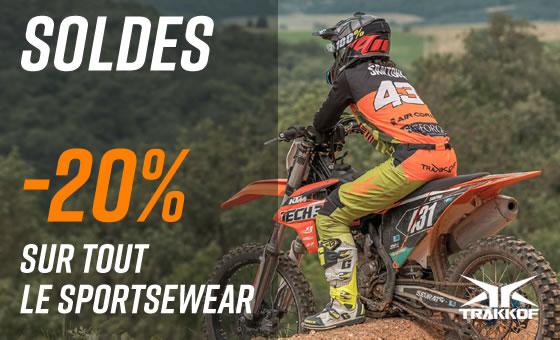 Soldes -20% sur tout les sportswear